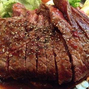 ワンポンドステーキ定食_レッドロック 本店:兵庫県神戸市 -2015/12/30- Hyogo Gourmet Photo:One Pound Steak Set meal at RedRock