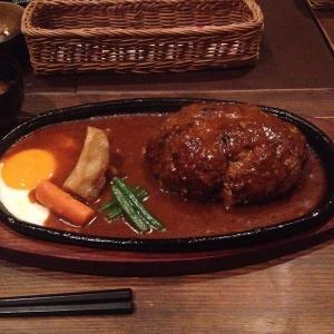 【グルメ】ジャンボハンバーグセット_洋食 春:奈良県奈良市 -2016/8/13-