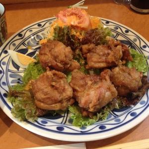 【グルメ】若鶏のからあげ定食_洋食レストラン マルシェ:兵庫県神戸市 -2016/11/5-